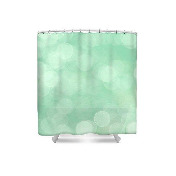 Green Shower Curtain Abstract Shower Curtain Mint Green Decor