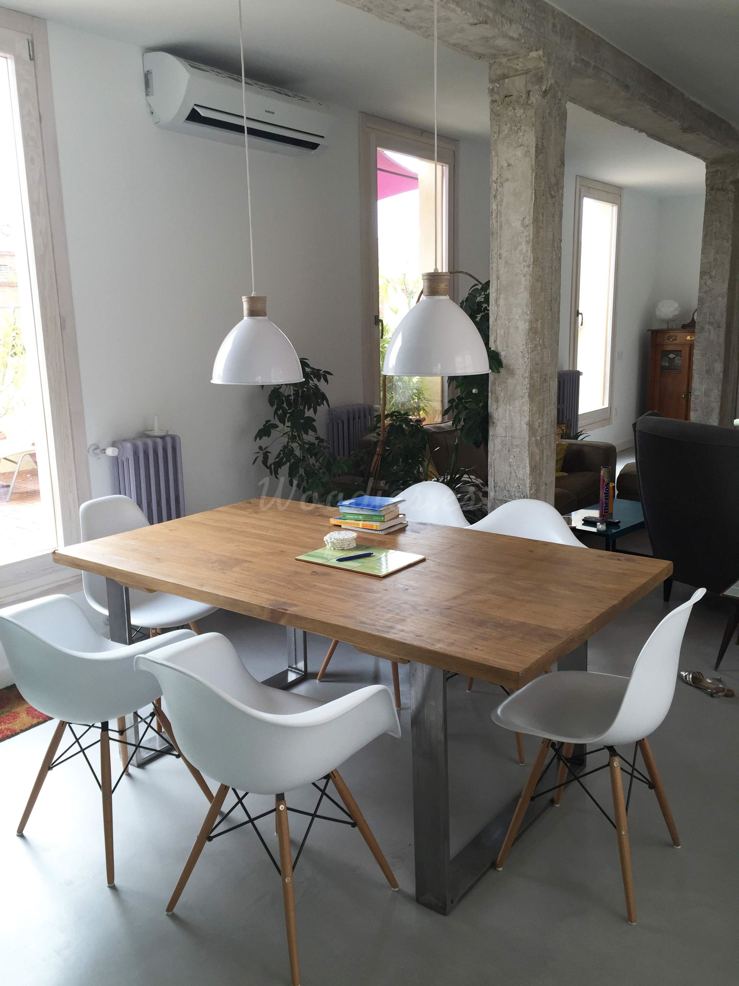 Mesa de comedor Industrial | dream decorations | Mesas de ...