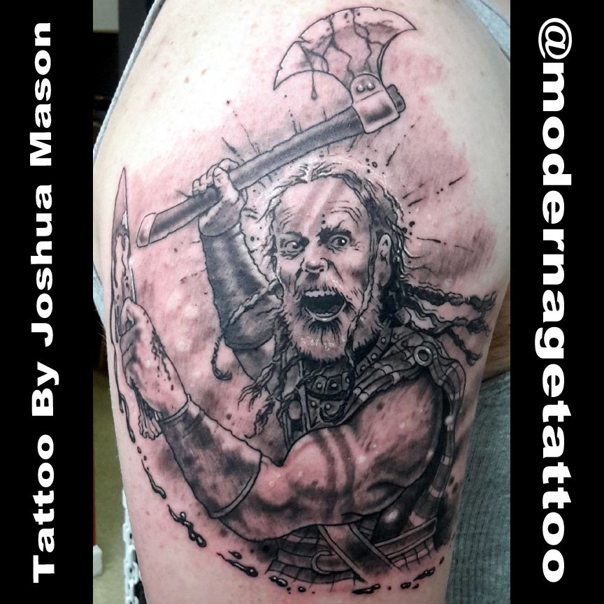 Scottish Warrior Tattoos: Scottish Highlander Warrior. Concept And Tattoo By Joshua