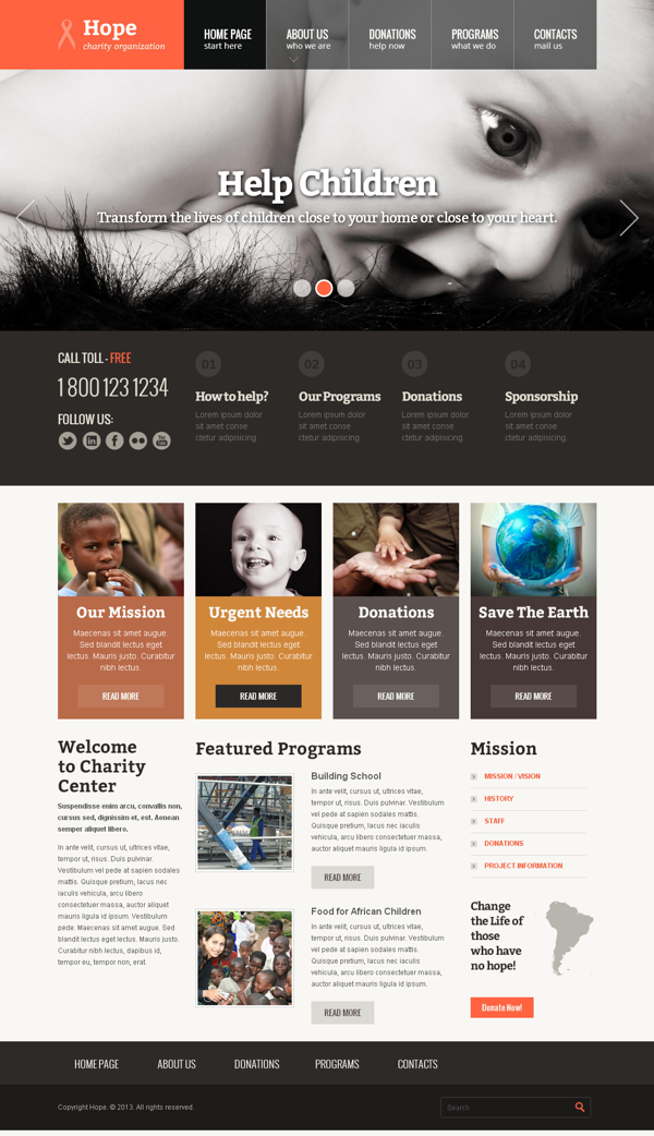 Hope Children Charity Organization Bootstrap Template by Dynamic ...