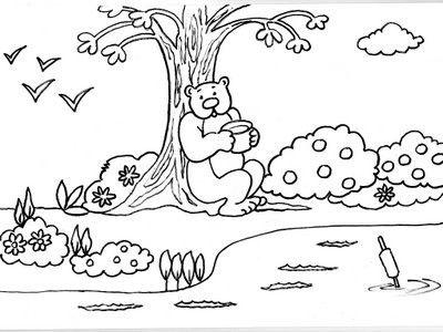 Dibujos Para Colorear De Paisajes Lindos