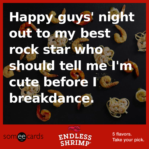 make your own ecard with the redlobster endlessshrimp ecard