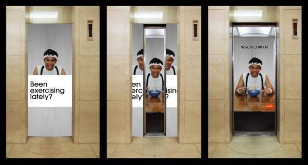 Evolution of escalator and elevator advertising