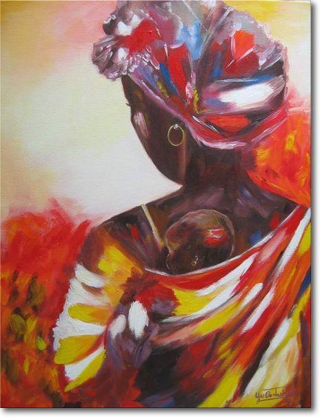Geliefde schilderijen van afrikaanse vrouwen - Google zoeken | Art #YN29