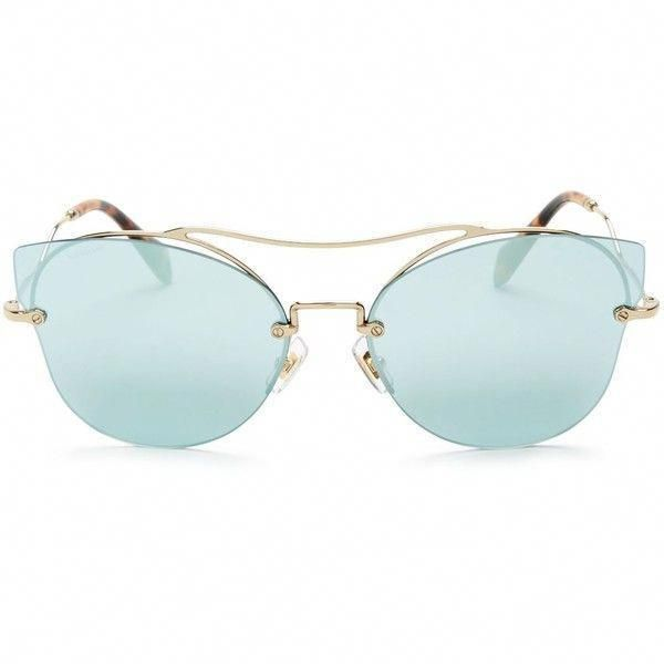 Miu Miu Mirrored Cat Eye Sunglasses, 66mm (6.663.155 IDR) ❤ liked on  Polyvore featuring accessories, eyewear, sunglasses, cat eye sunnies,  mirror glasses, ... f96d4d249e