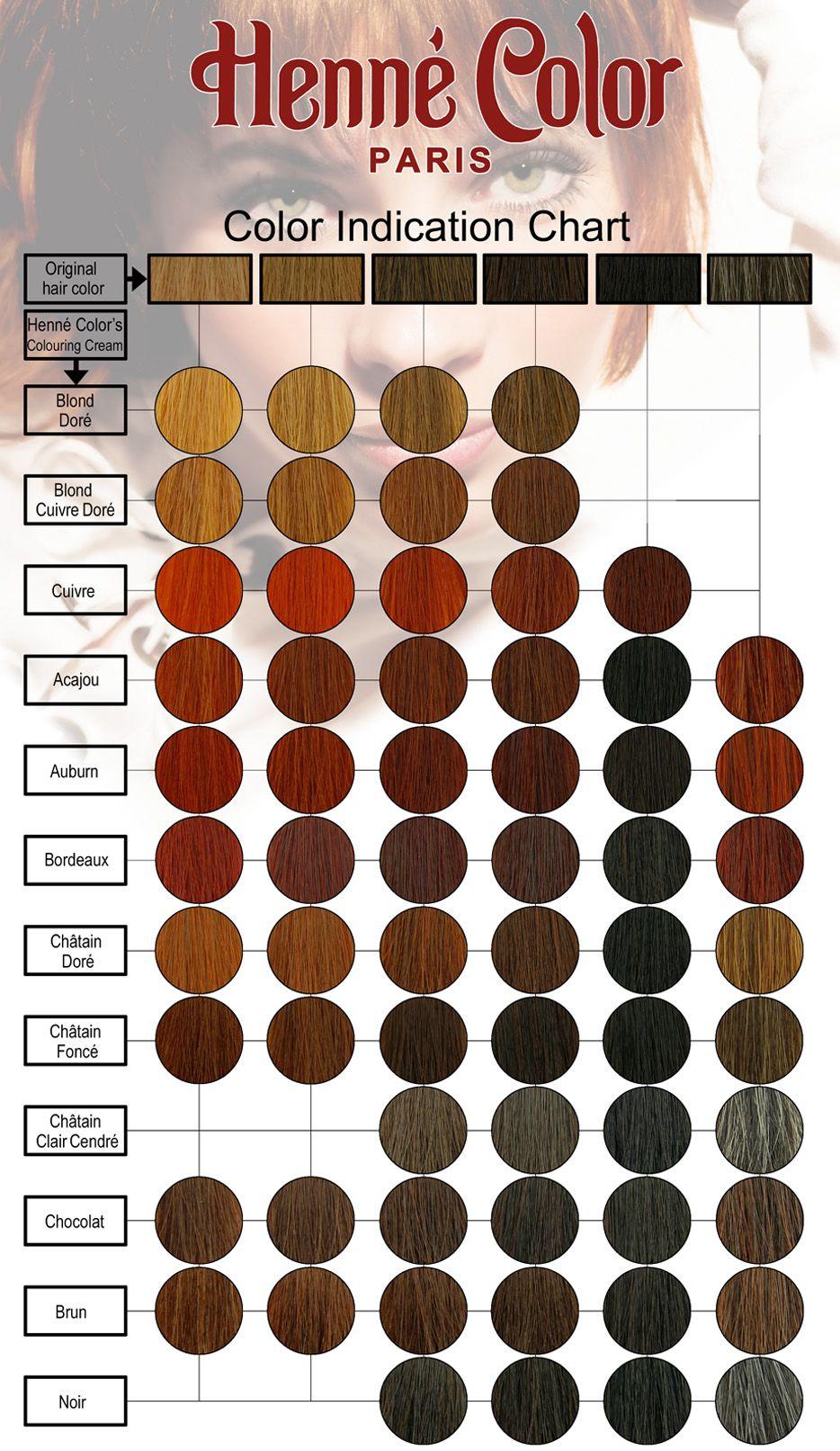 Henna Hair Dye Color Chart Hair Dye Color Chart Henna Hair