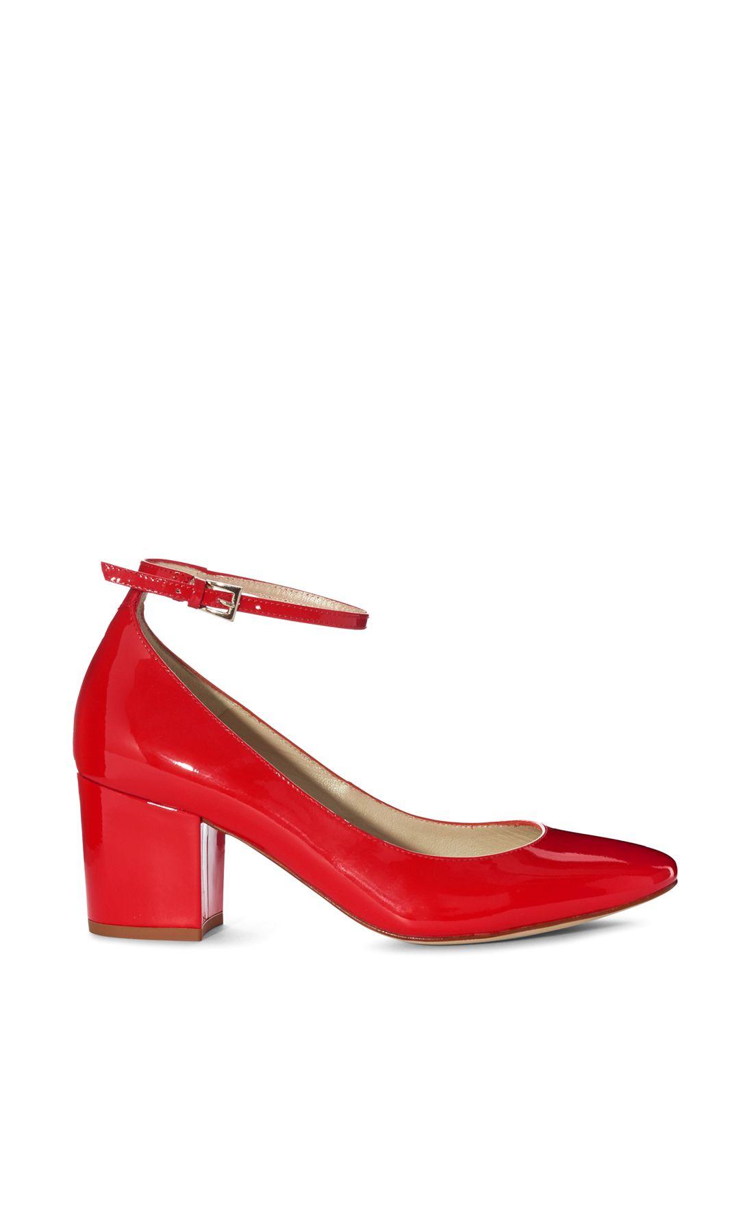 d79111033c Karen Millen, BLOCK HEEL COURTS Orange   Shoes!!!   Heels, Karen ...