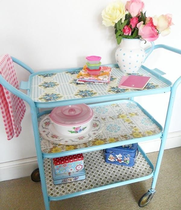 Teawagontales Trolley! --- Fabulous creative storage solutions for your studio!
