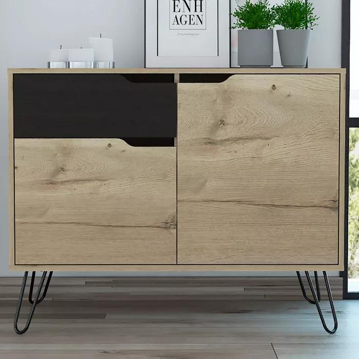 Aster Sideboard Cabinet Light Wood Rst Brands In 2020 Sideboard Cabinet Cabinet Lighting Cabinet