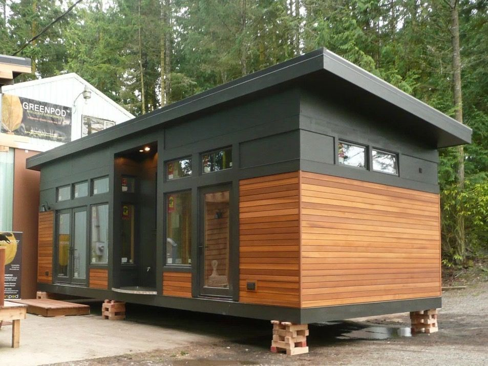 450 Sq Ft Waterhaus Prefab Tiny Home Tiny House Design Small House Small House Plans