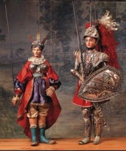"""Sicilian puppets called """"Pupi"""", from an ancient tradition that is still alive."""