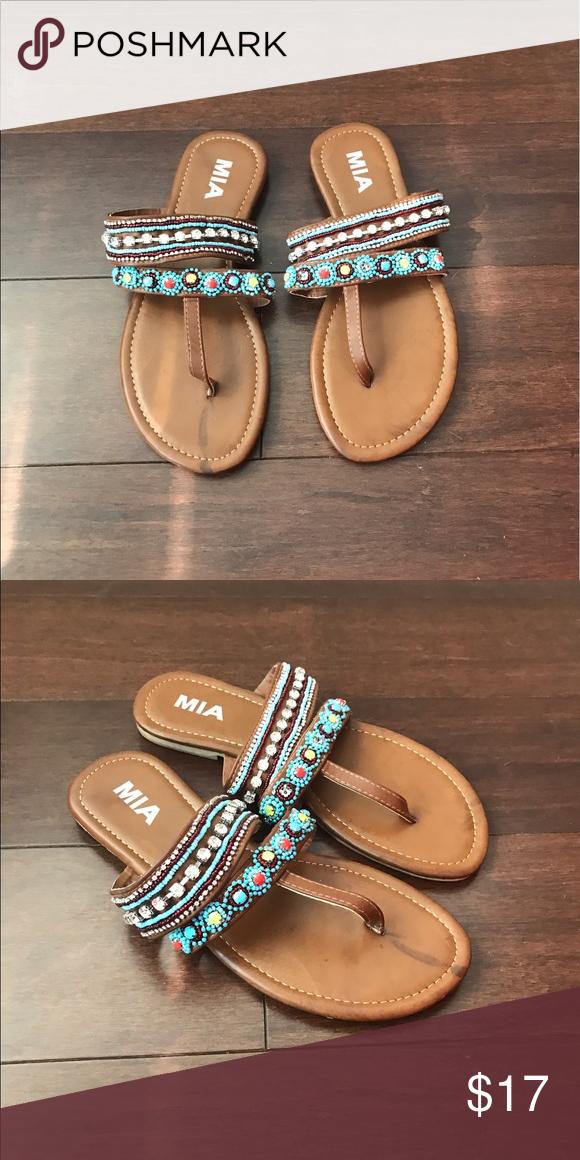 MIA Sandals Beaded MIA Sandals ! MIA Shoes Sandals