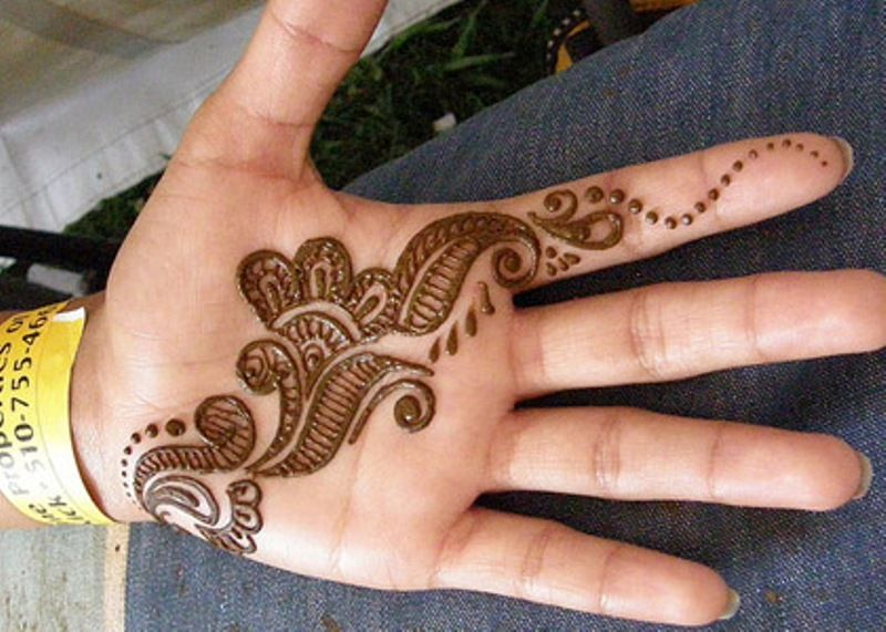 Simple Arabic Henna for Palm