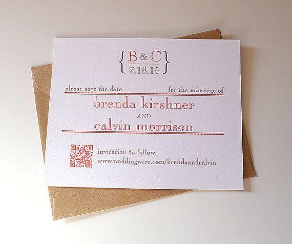 Matrimonio Bohemien Qr : Qr code save the date card by prettystationeryshop on etsy