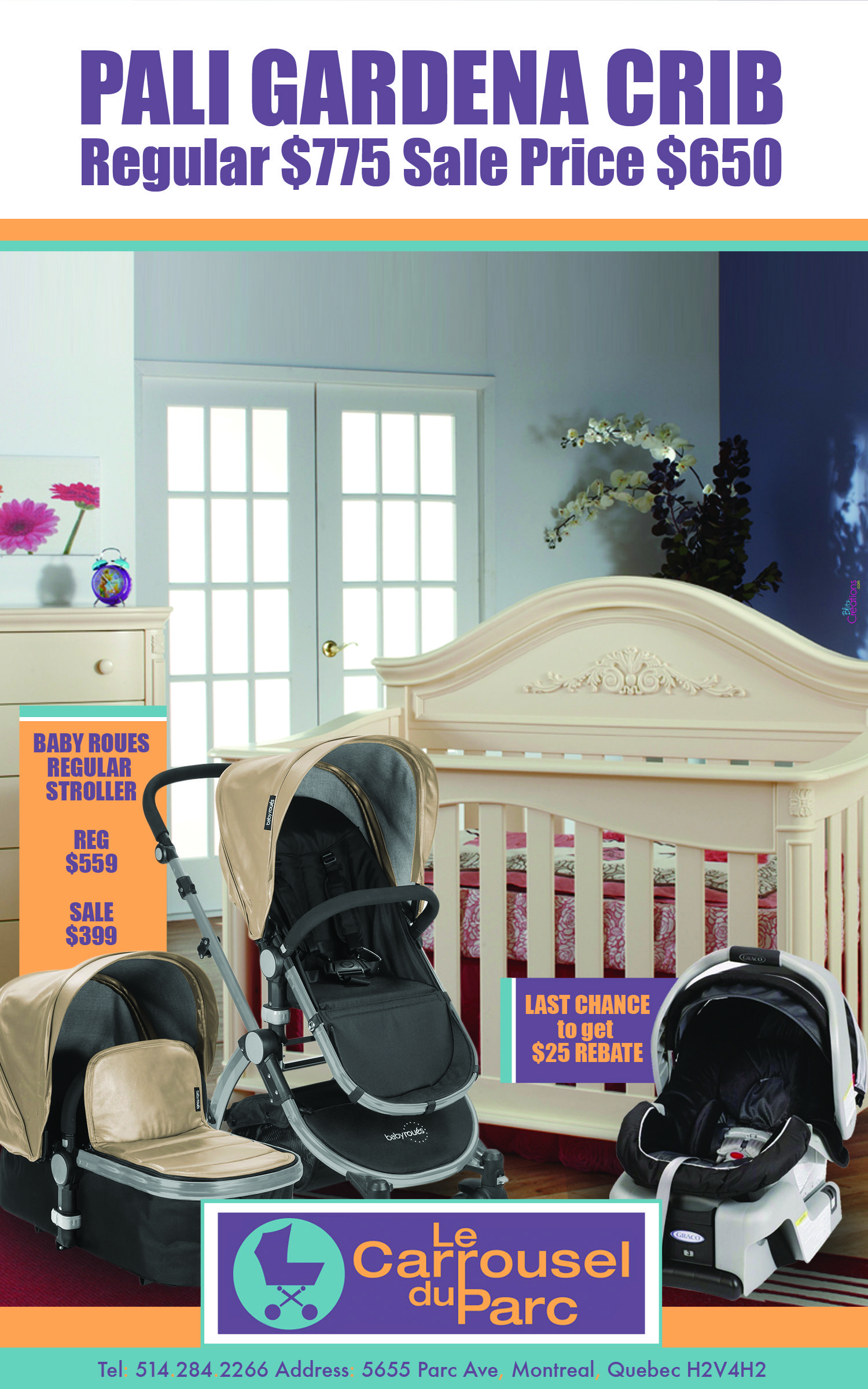 Pali crib for sale used - Come To Carrousel Du Parc For A Fantastic Sale On Baby Roues Strollers Pali Gardena