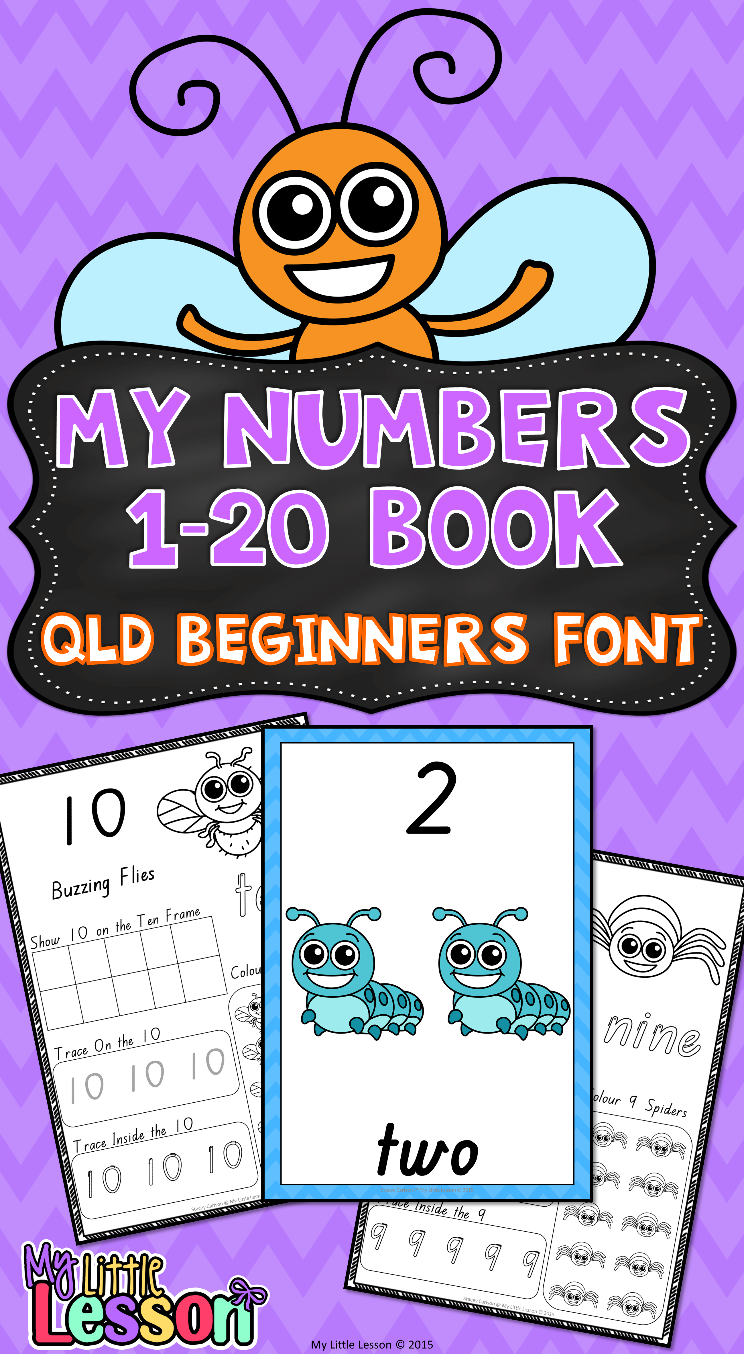 Numbers 1 20 Qld Beginners Font Worksheets And Posters
