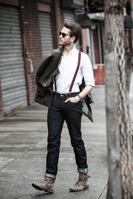 669c587a83 How To Wear Suspenders With Jeans For Men - 30 Male Fashion Styles