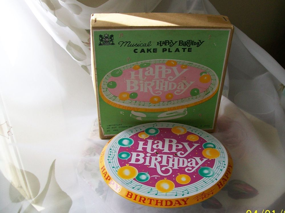 made in Japan in box Musical birthday cake pedestal Chadwick