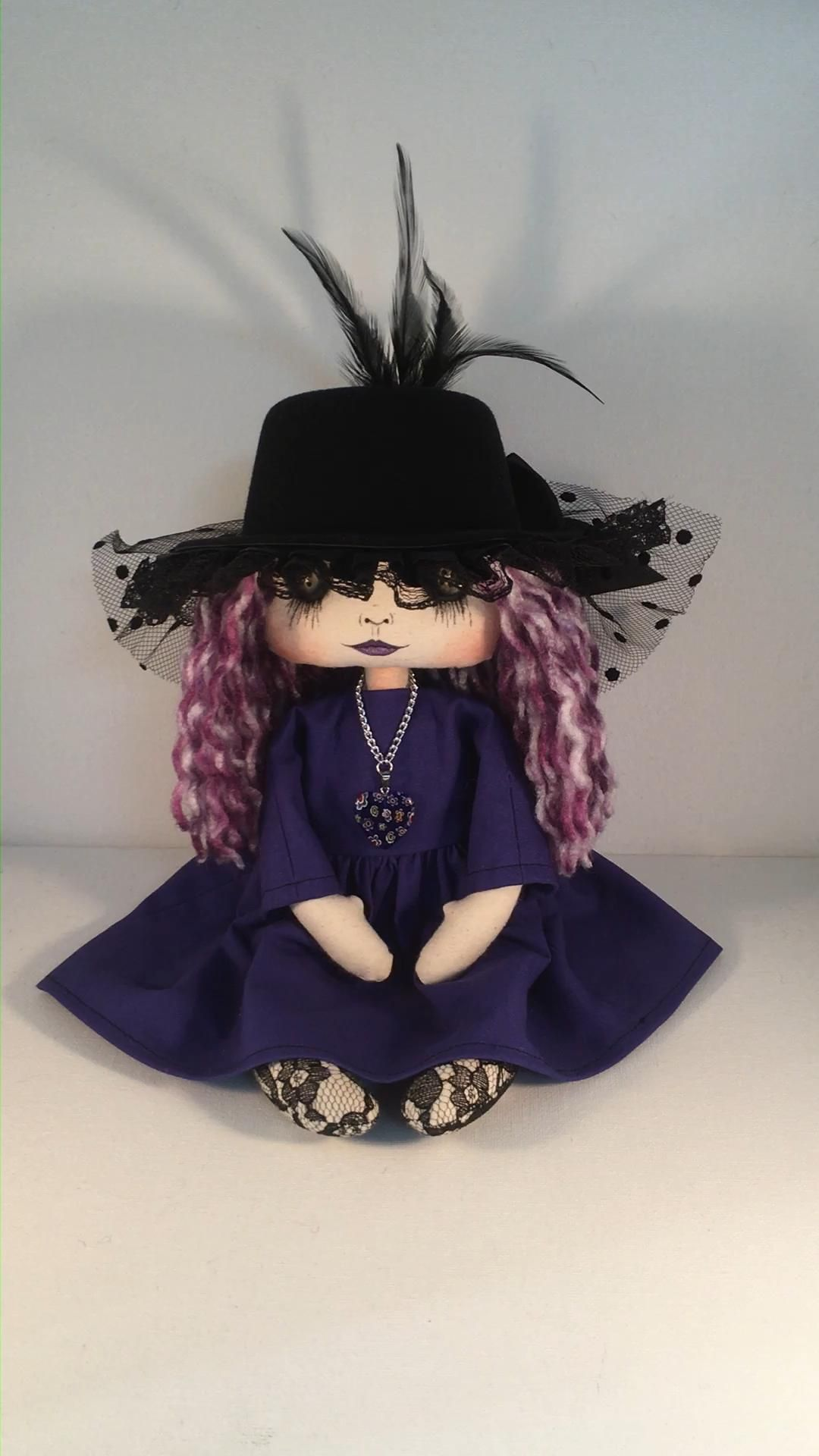 Photo of Gothic art cloth decorative doll