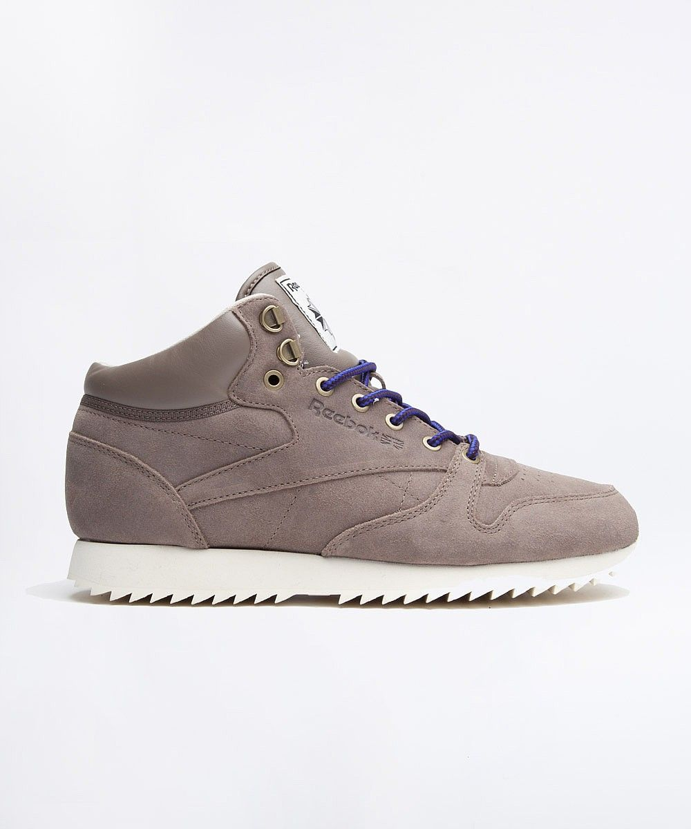 45149e793b2dae Reebok Classic Leather Mid Ripple Trainer