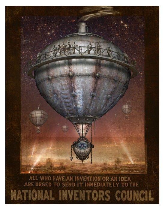 Steampunk Vintage Ad Series  Lead Balloon  Art by indigolights, $20.00--via The Steampunk Bride