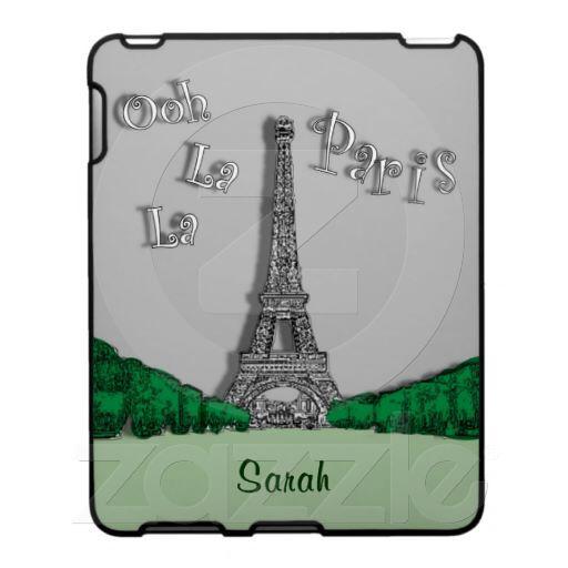 Ooh La La Paris Eiffel Tower retro look iPad Case