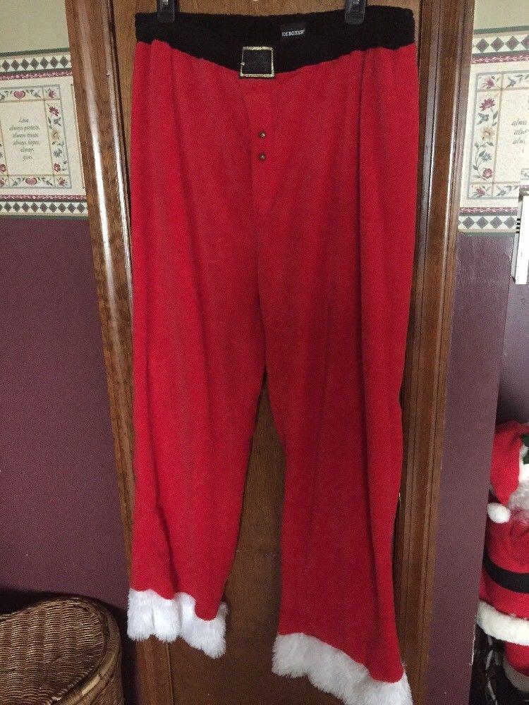 Joe Boxer Pajama Lounge Pants Mens Sz XL Santa Claus Christmas ...