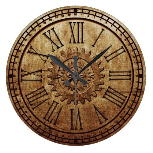 Steampunk Wall Clock 3 Zazzle Com In 2019 Clock Big