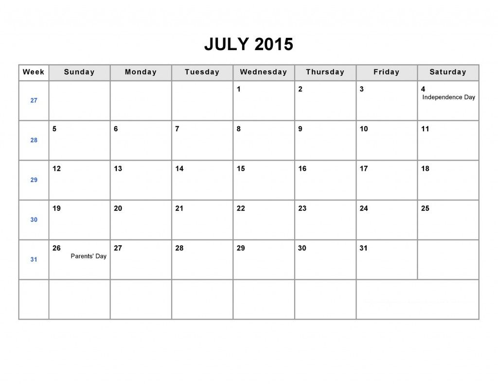 Printable Blank Monthly Calendar 2015 Part 2 2 Monthly Calendar Template Blank Monthly Calendar Calendar Word