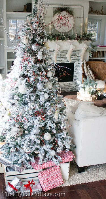 My Snowball Christmas Tree Decorations - all the details Pinterest - white christmas tree decorations