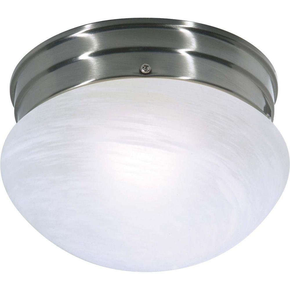 1 Light Brushed Nickel Fluorescent