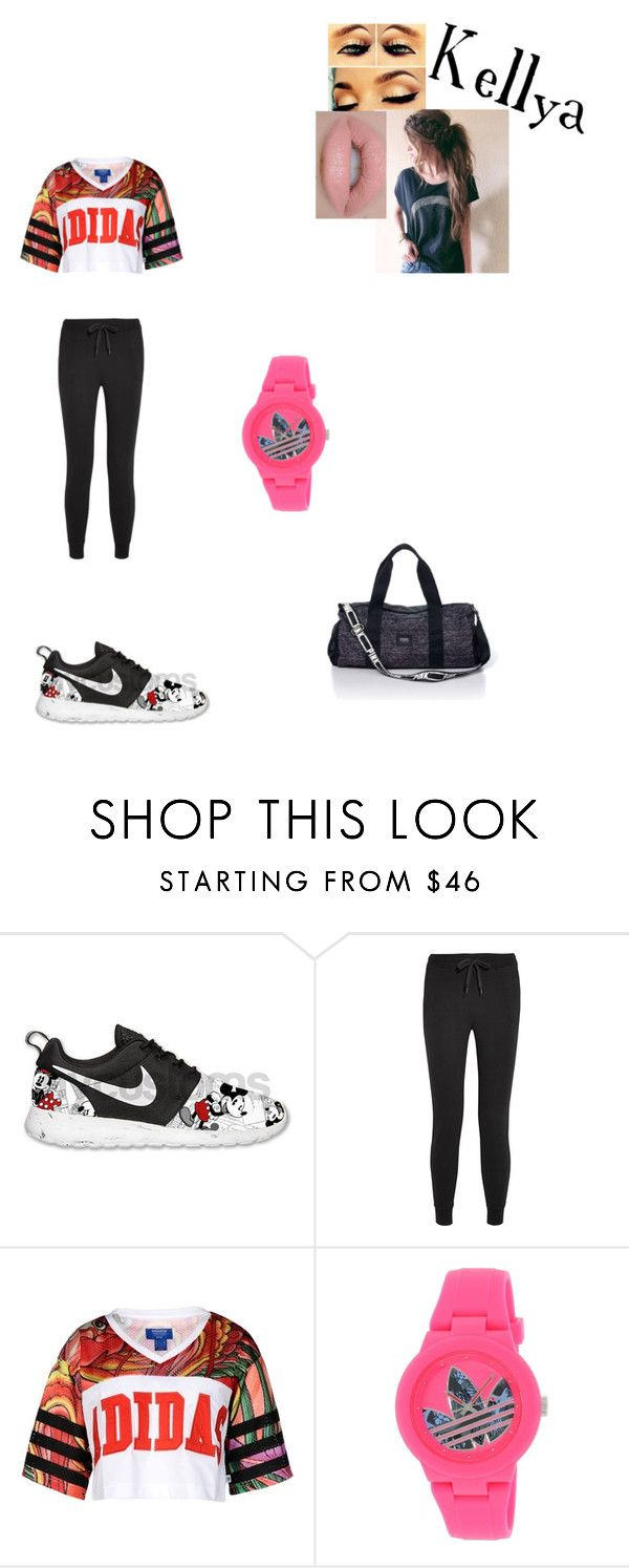 """""""Kellya"""" by gwentommo on Polyvore featuring mode, NIKE, T By Alexander Wang, adidas Originals, adidas, Victoria's Secret PINK et Castello"""