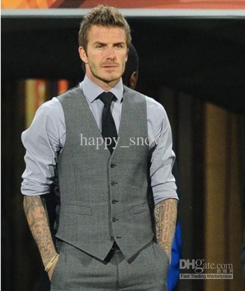 new hot men's Beckham vest men's casual suit vest, Five button ...