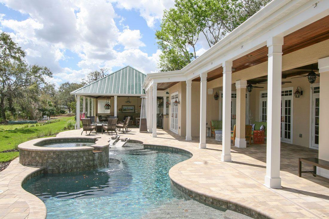 Outdoor Kitchen Living Space Remodel Alva Fl Exterior Renovation Pool Renovation Exterior Design