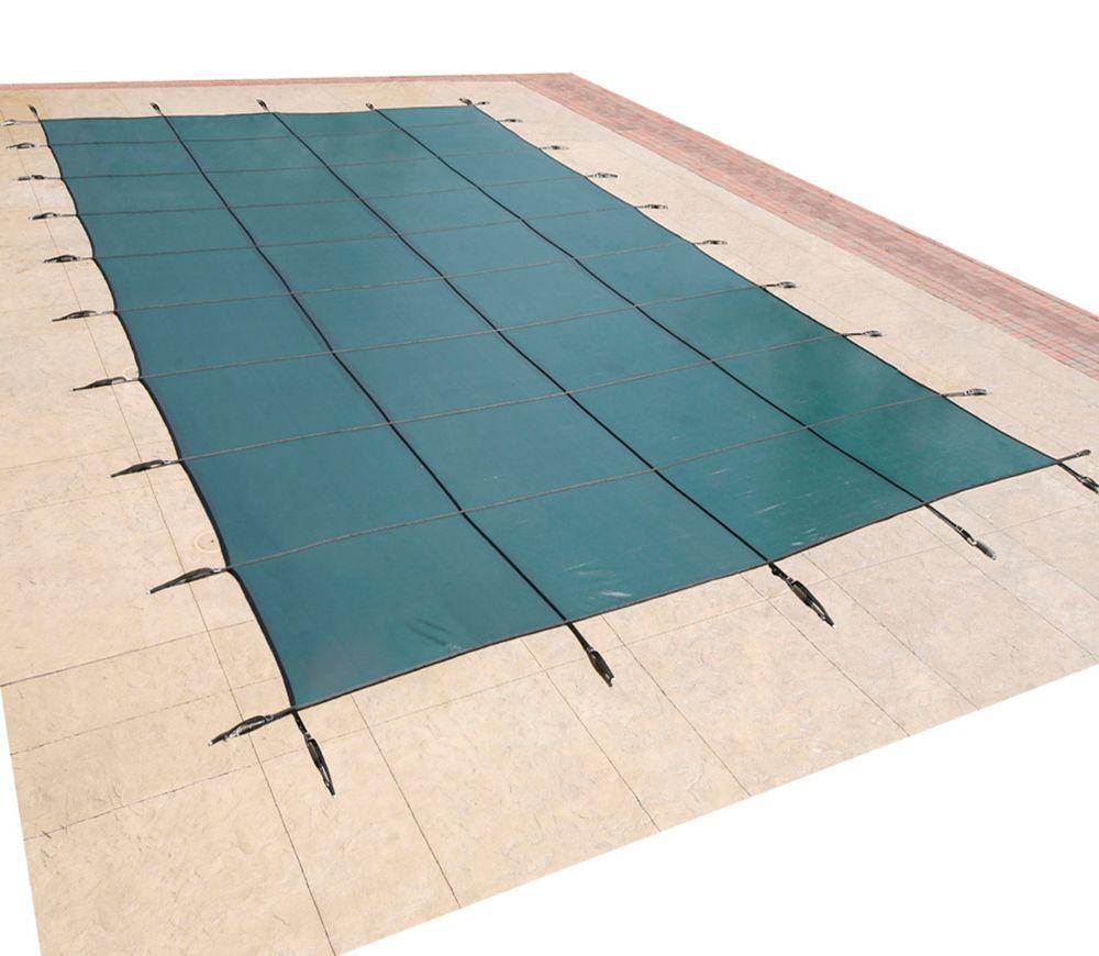 20 ft x 40 ft rectangular green inground pool safety