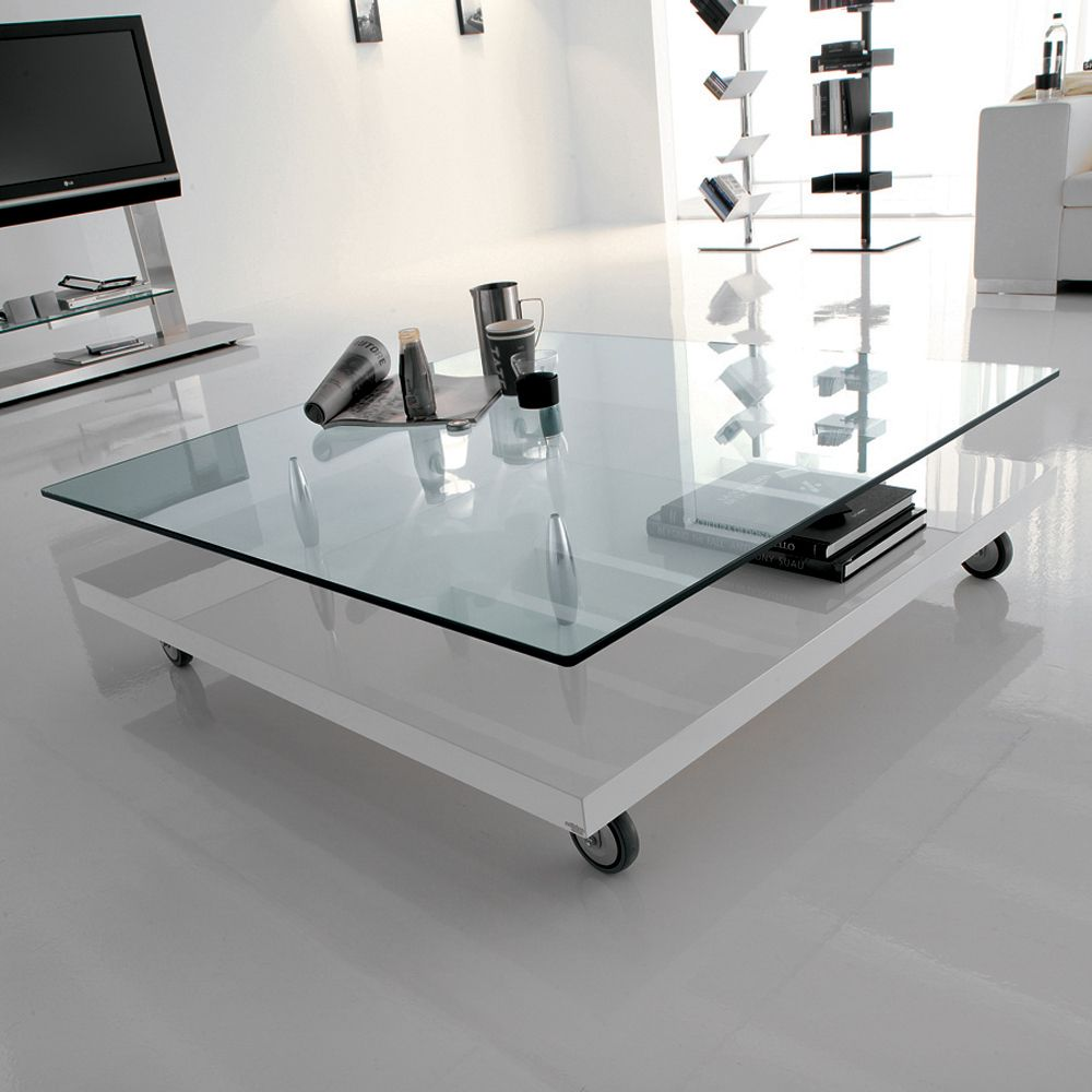 White Color and Glass Table in the Living Room | Design & DIY ...