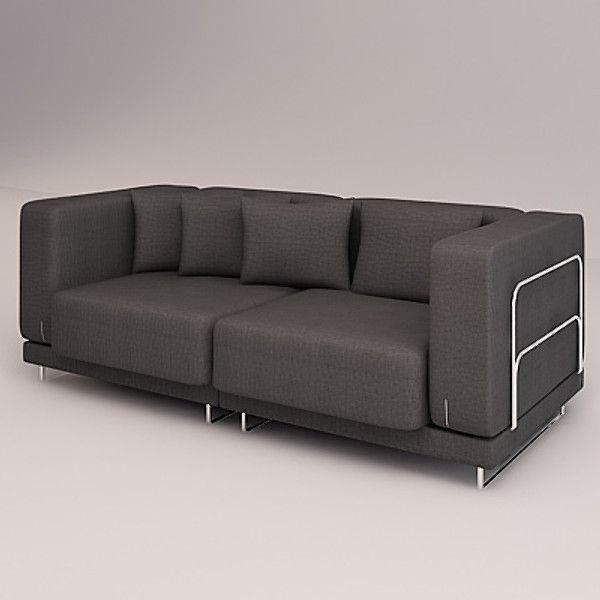 3D Model Tylosand Sofa Double 3D Model Дизайн, Чехлы