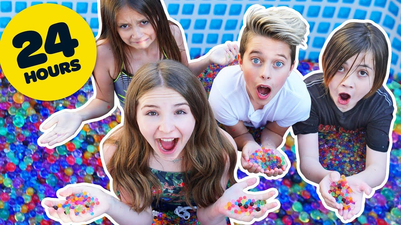 I Put 2 Million Orbeez In A Pool 24 Hour Mr Beast Challenge Pip Challenges Beast Mr