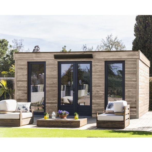 Abri De Jardin Semi Habitable Toit Plat Decor Home 24 70 M Ep 90