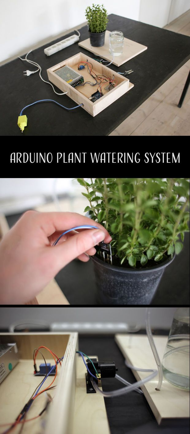 How to make a plant watering system powered by Arduino. #arduinoprojects