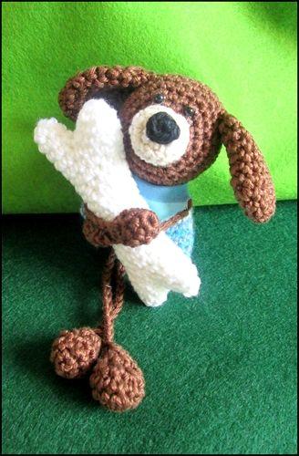 Taschenbaumler Jack, der Hund - Häkelanleitung | Häkeln crochet ...