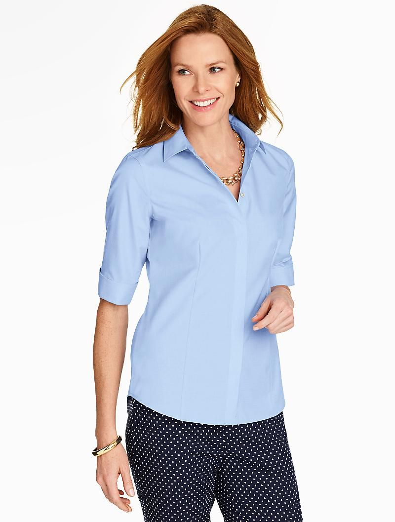 Talbots dresses for weddings  The Perfect ElbowSleeve Shirt  EndOnEnd  Talbots  What To Wear