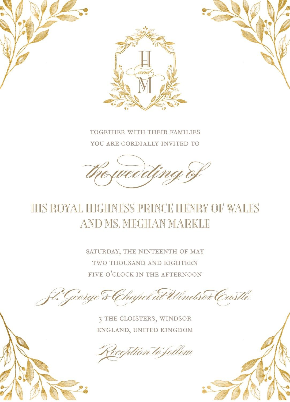 Royal Wedding Invitations In 2020 Royal Wedding Invitation Harry And Meghan Wedding Harry Wedding