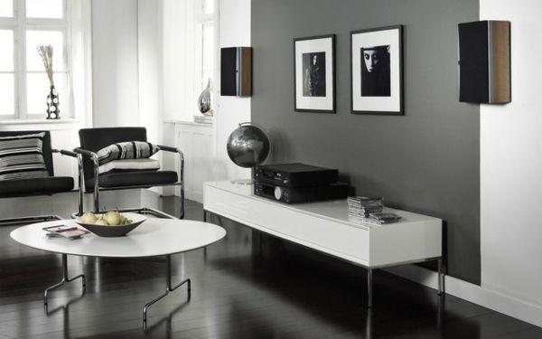 graue wandfarbe wandfarbe ideen wandfarbe trends | haus ... - Wohnzimmer Ideen Wandgestaltung Grau