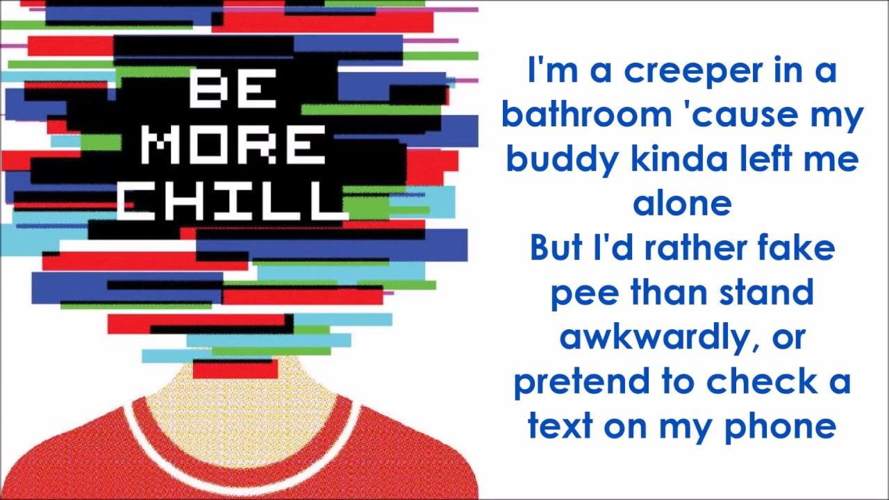 Michael In The Bathroom Be More Chill Lyrics Be More Chill Michael In The Bathroom Lyrics
