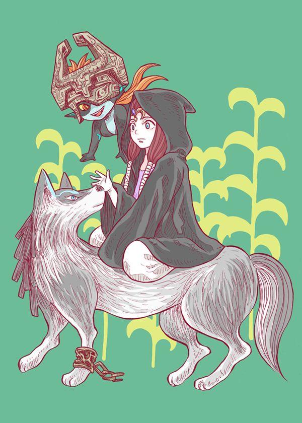 wolf link et zelda - Link Et Zelda
