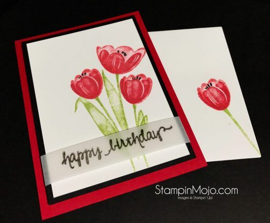 Stampin Up Tranquil Tulips Birthday Card Ideas Michelle Gleeson – Stampin Up Birthday Card Ideas