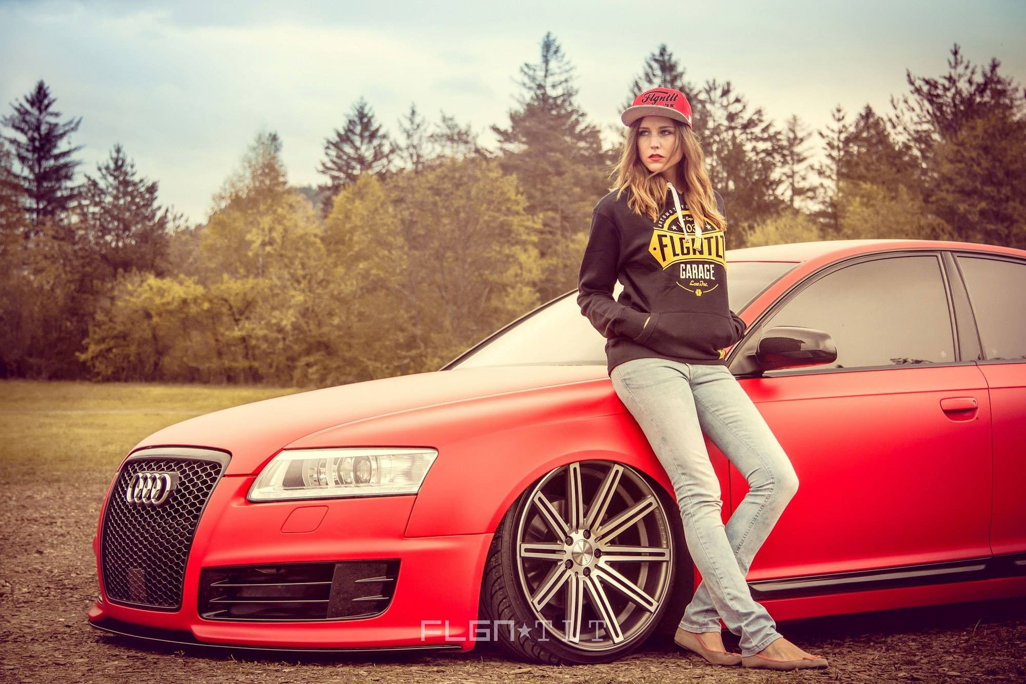 Girl With Audi Car Google Search Red Audi Audi Cars Women