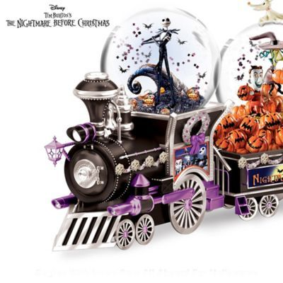 The Nightmare Before Christmas Musical Glitter Globe Train Nightmare Before Christmas Snowglobe Nightmare Before Christmas Nightmare Before Christmas Musical