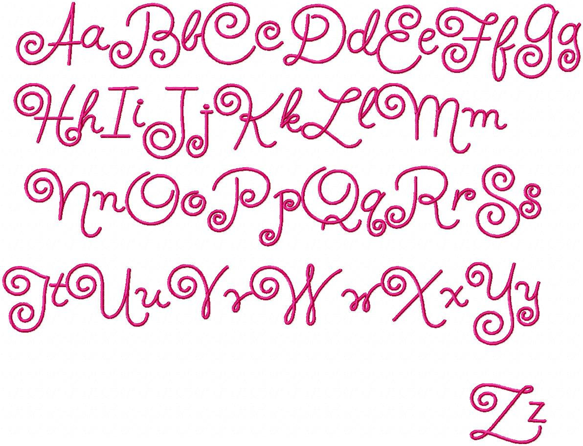 Cool Font Alphabet Letters  Swirly Font I Would Love To Know What